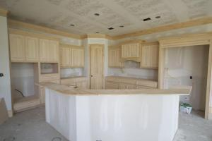 Unfurnished Kitchen in Custom Home