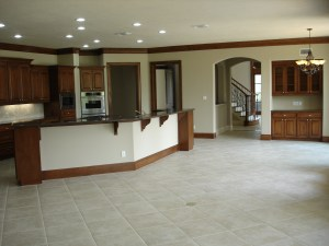 Unfurnished Interior of Open Area in Home